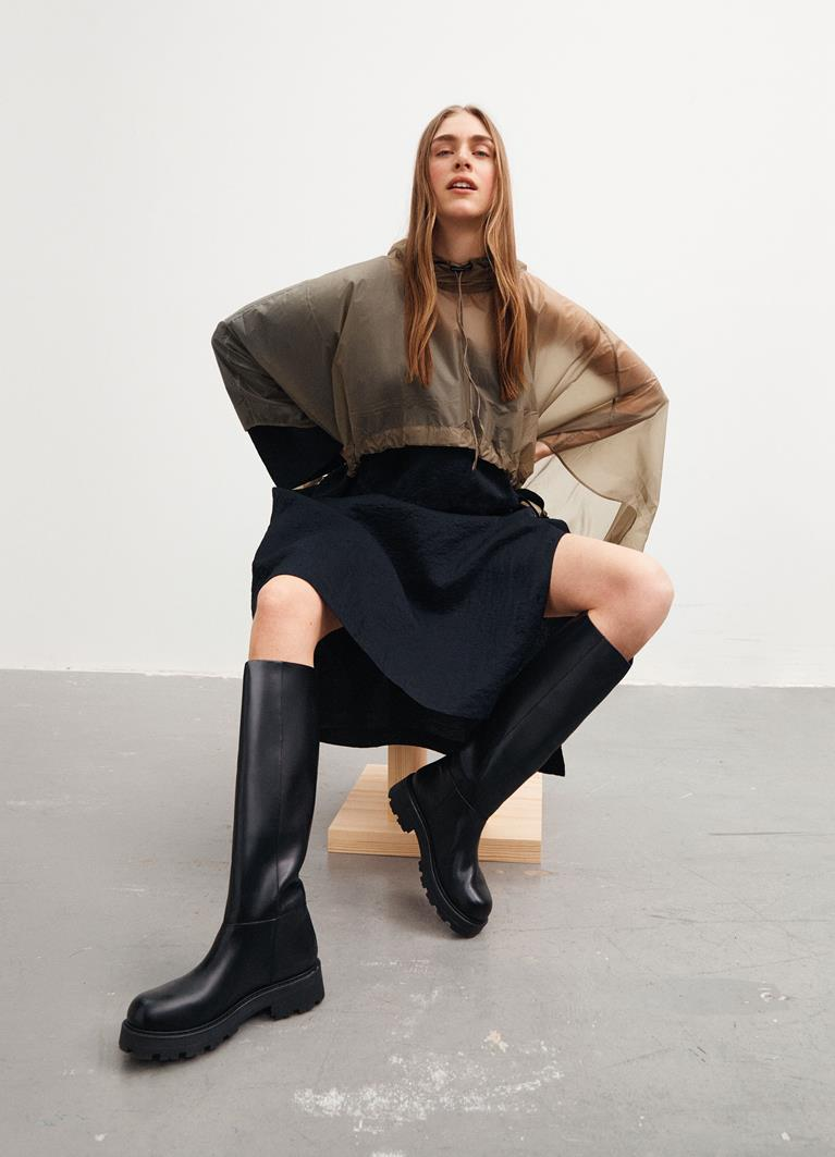 Cosmo 2.0 Black Cow Leather Boots