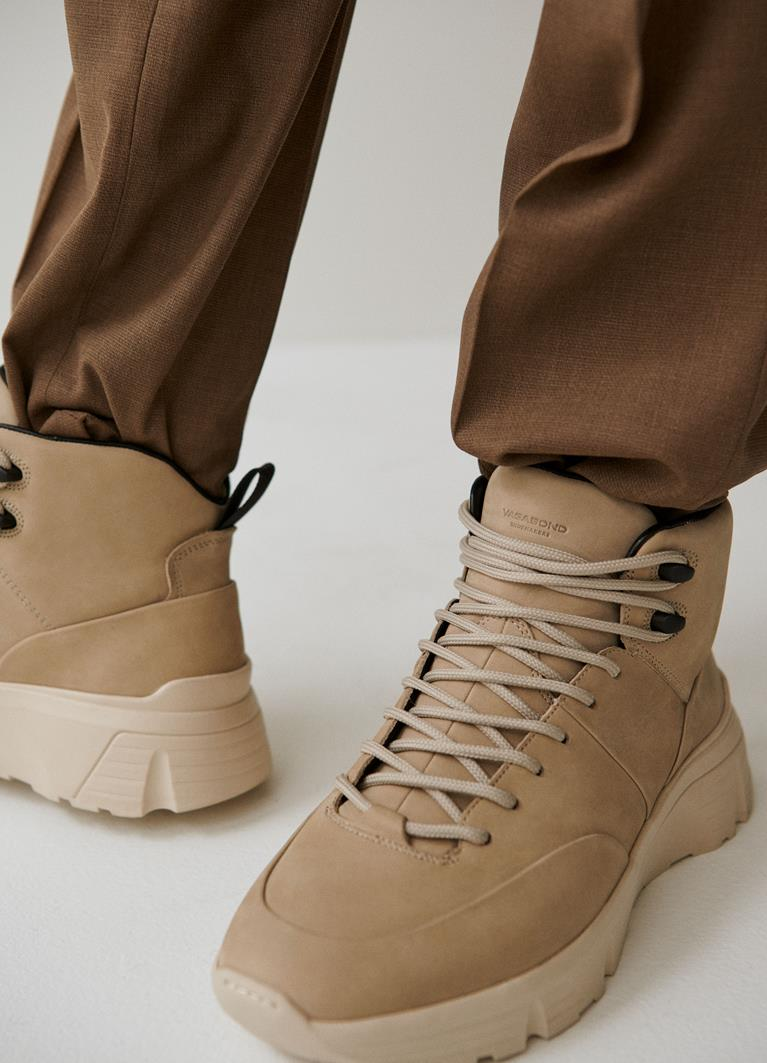 Quincy Sand Cow Leather Sneakers
