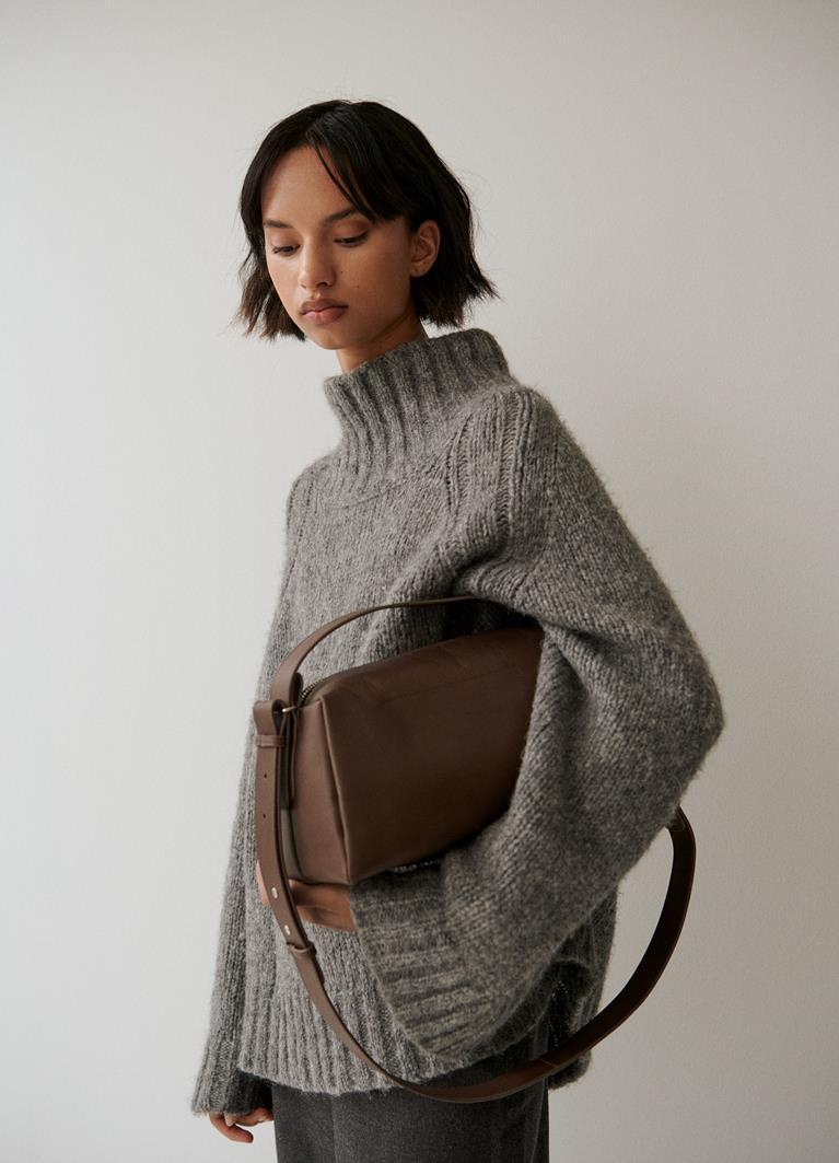 Florına mıd Shiitake Cow Leather Bag