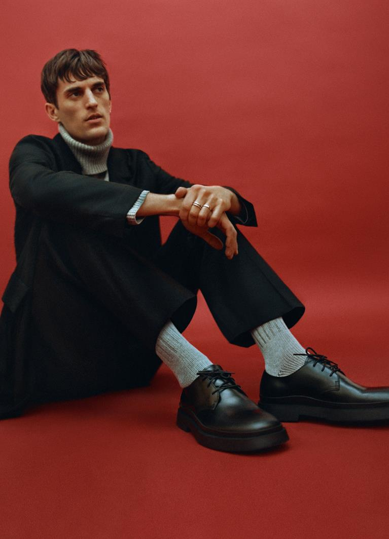 Mike Black Cow Leather Shoes