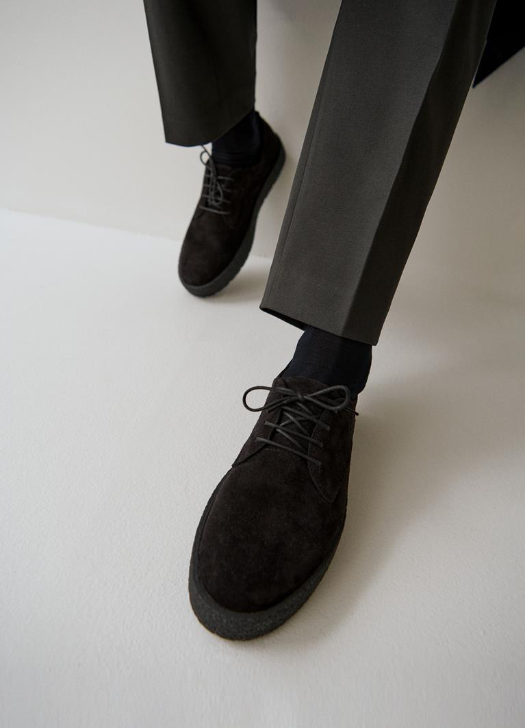 Fred Black Cow Suede Shoes